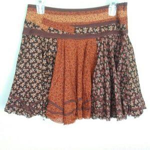 Free People Floral Boho Festival Skirt Size 8